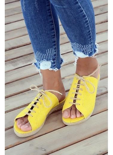 Pembe Potin A9595-19 Kadın Sandalet A9595-19 Hardal